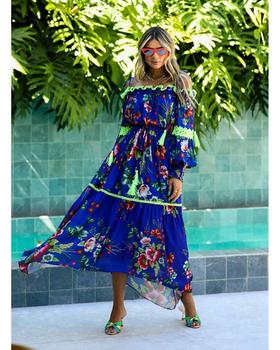 Vestido Midi Floral - Skazi/Sclub