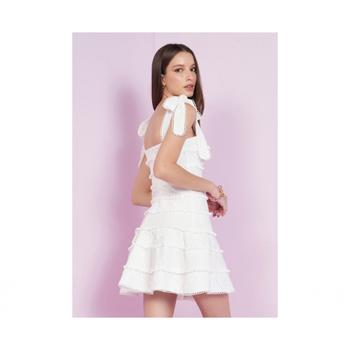 Vestido curto com renda - Lore